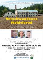 """23. September 2020: Buchpräsentation """"Verschwundenes Waldviertel"""" in Horn"""