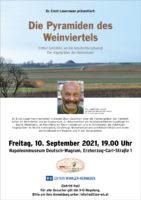 """10. September 2021: """"Die Pyramiden des Weinviertels"""" in Deutsch-Wagram"""