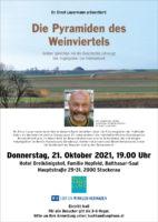 """21. 10. 2021: """"Die Pyramiden des Weinviertels"""" in Stockerau"""